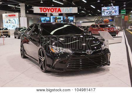 Toyota Camry Customizer On Display.