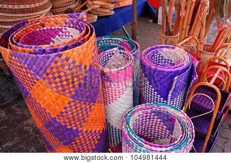 Colourful Malay traditional mats