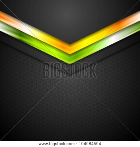 Glow neon tech arrows abstract background
