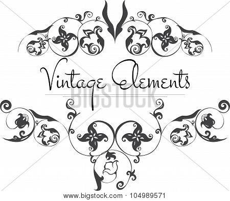Hand Drawn Vintage Vector Flourishes