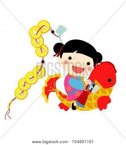 Chinese new year - girl