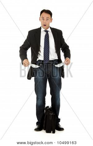 Middle Aged Businessman, Pockets