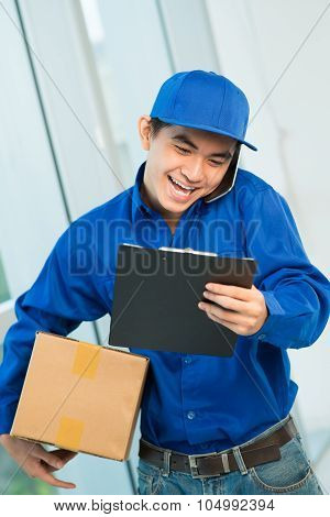 Courier At Work