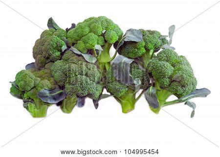 Pile Of Purple Broccoli On A Light Background
