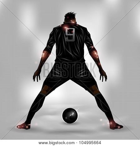 Soccer Player Ready To Shoot