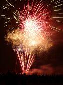 foto of guy fawks  - Fireworks celebrating Guy Fawkes night in Barkingside recreational ground - JPG