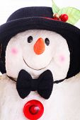 Cute Snowman Doll With Hat poster