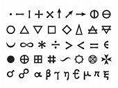 stock photo of mystique  - Mystique Symbols set I - JPG