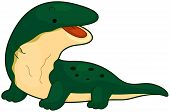 pic of toothless smile  - Illustration of a Huge Komodo Dragon Flashing a Toothless Smile - JPG