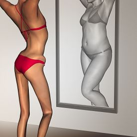 pic of emaciated  - Concept or conceptual 3D woman - JPG