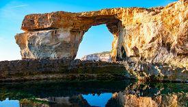 stock photo of gozo  - Azure Window - JPG