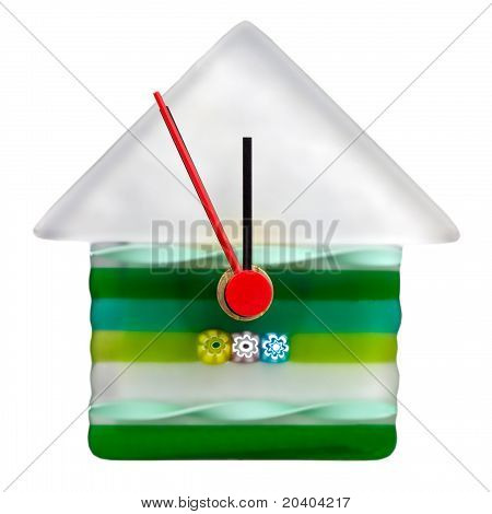 New Year Wall Glass Clock