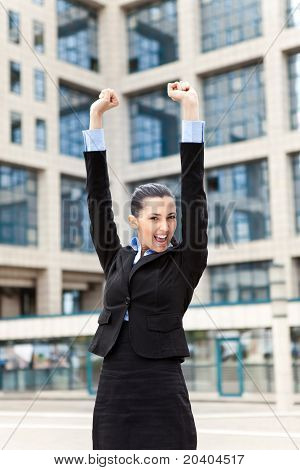 Happy Success Businessman