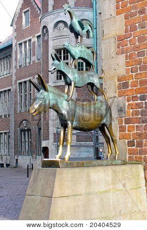 Bronzeskulptur der Musiker von Bremen