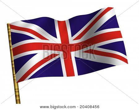 La Gran Bretaña. Bandera nacional