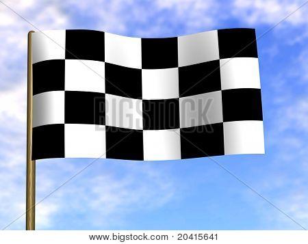 Finishing checkered flag. 3d
