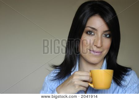 Woman Drink Tea/Coffee
