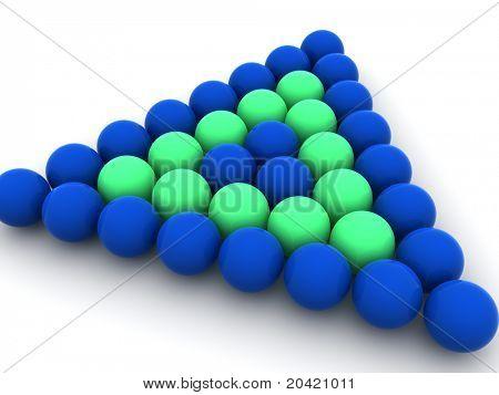 Billiard balls. 3d