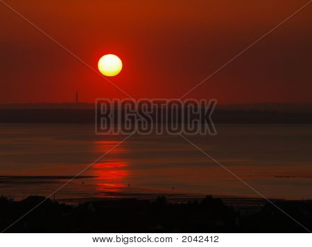 Red Sunset - Whitstable (Landscape)