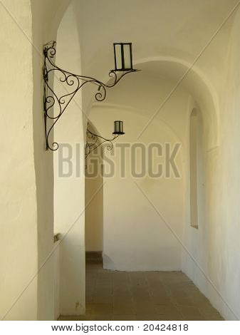 Beautiful corridor of the ancient deputy.