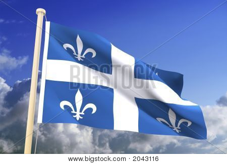 Quebec Flag (Clipping Path)