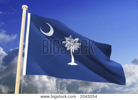 South Carolina Flag (Clipping Path)
