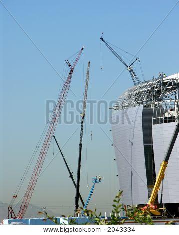 Multiple Construction Cranes