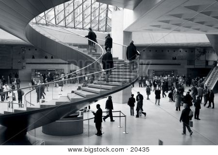 Entrance Hall In Louvre