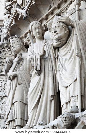 Sculptures On Notre Dame De Paris