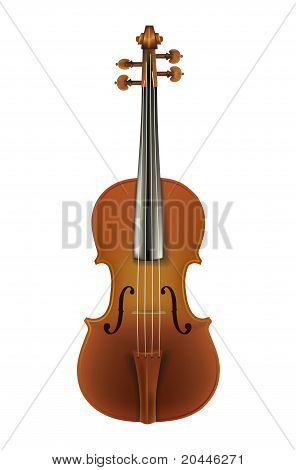 Classic Violin Isolated On A White