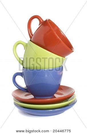 Colour Cups And Soucers