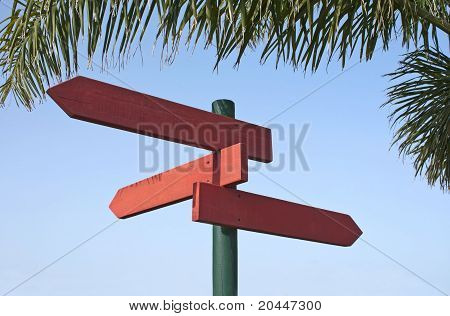 Direction Signs In Redwood