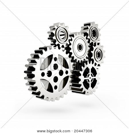 The mechanism. Gear 3d.