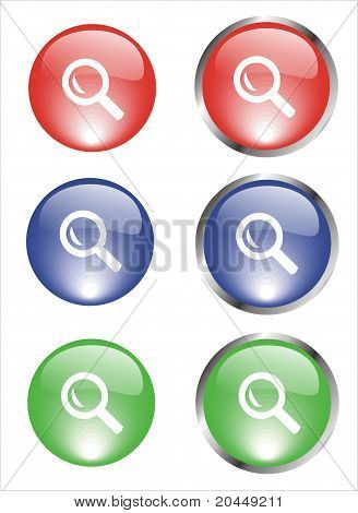 Magnifying glass buttons