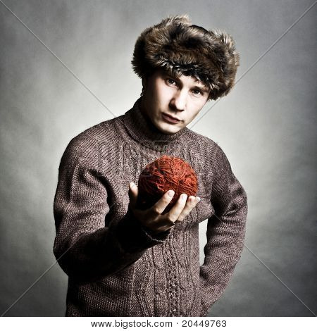 Young Man Winter Fashion