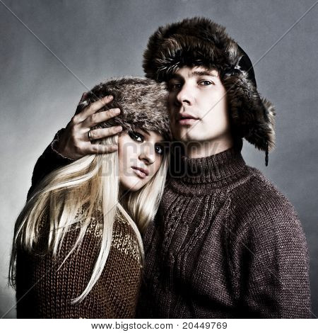 Winter Fashion Man And Woman