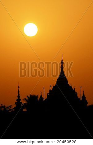 Dawn Over The Temples Of Myanmar