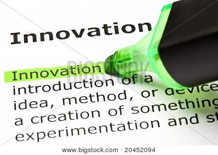 'inovação' destaques em verde