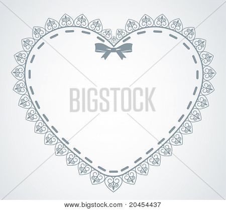 Beautiful heart with lace ornaments