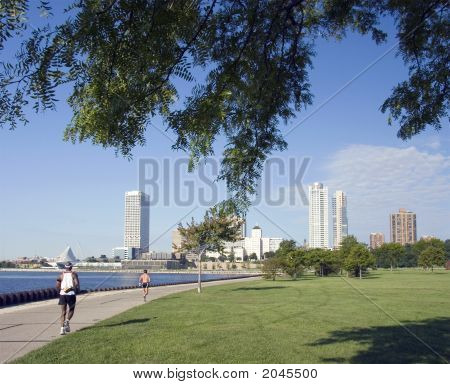 Milwaukee Lakefront corredores
