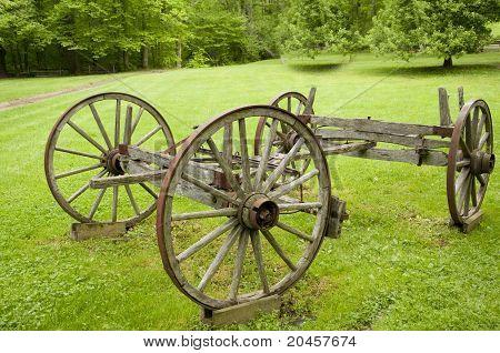 Historic Wooden Wagon Wheels