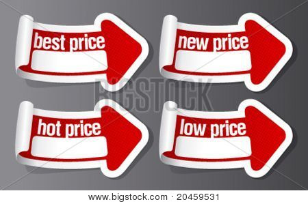 Best hot price stickers in form of arrow.