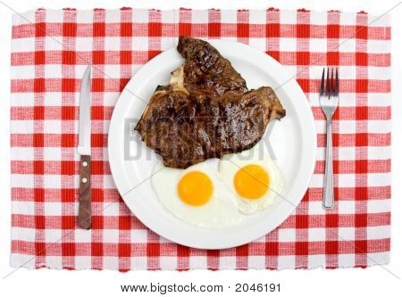 Steak And Eggs Setting