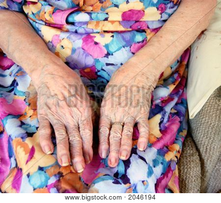 Hands Of A Senior