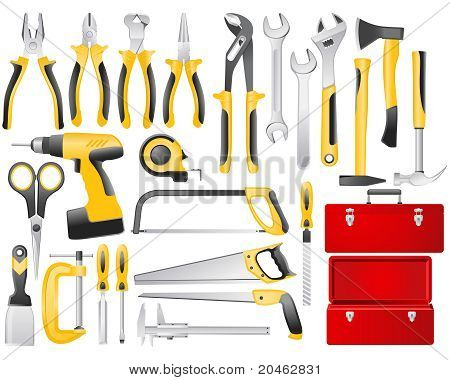 Hand work tools set
