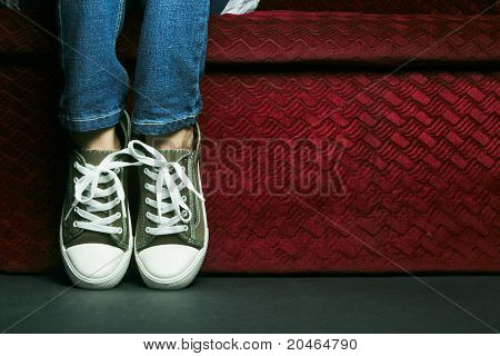 Shoes and Jean