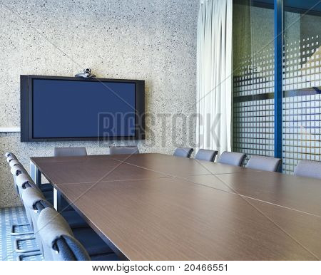 interior of a Congress Palace, meeting room