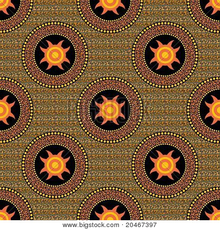 Seamless A Pattern In Style Aztecs