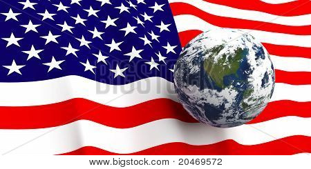American Flag & The Earth