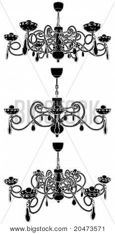 Luster Chandelier Vector 22.eps